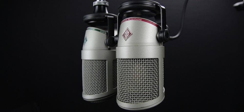 Two radio microphones.