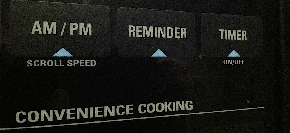 Appliance shows reminder feature.