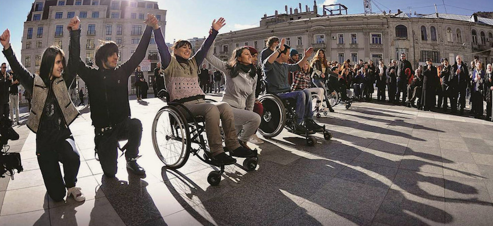 A group of young people with physical disabilities advocate on their own behalf.