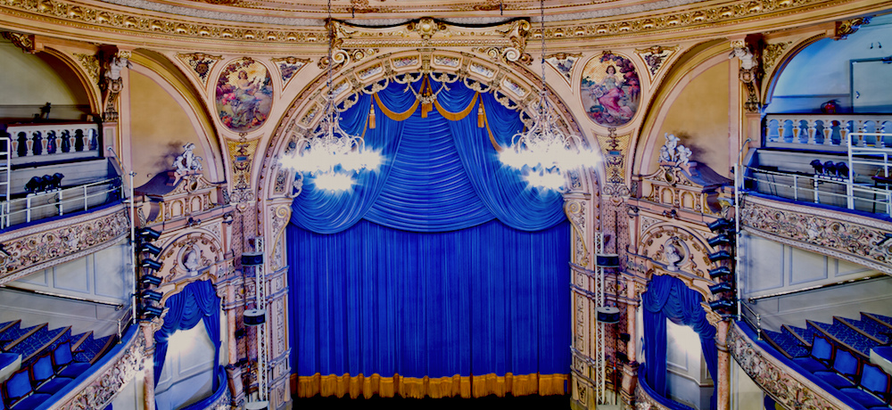The stage of the Grand Theatre Blackpool.
