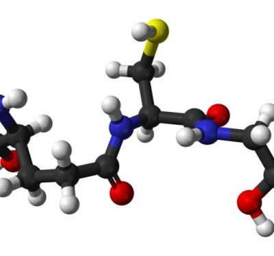 Diagram of Glutathione. (CC via WIkipedia.)