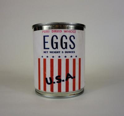 A tin of dried eggs